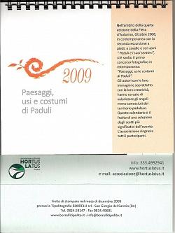 Calendario Hortus Latus - anno 2009