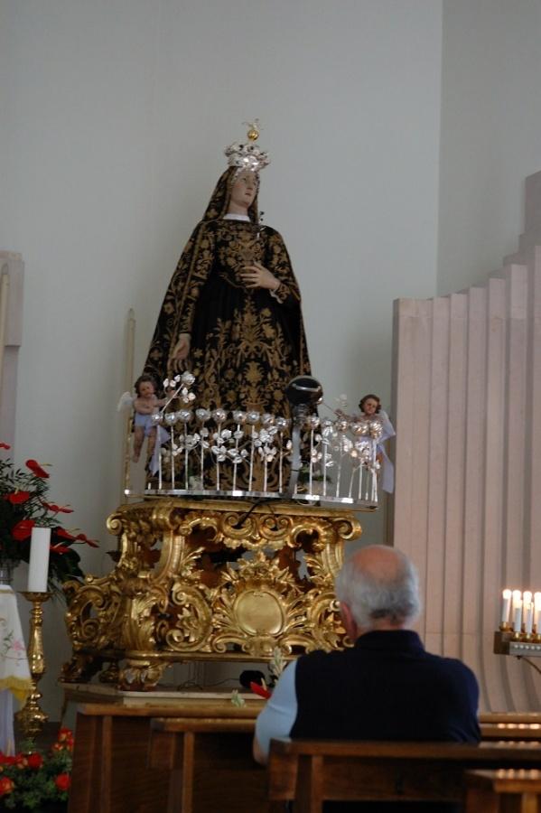 La tirata del Carro a Mirabella - anno 2009 - La Madonna Addolorata