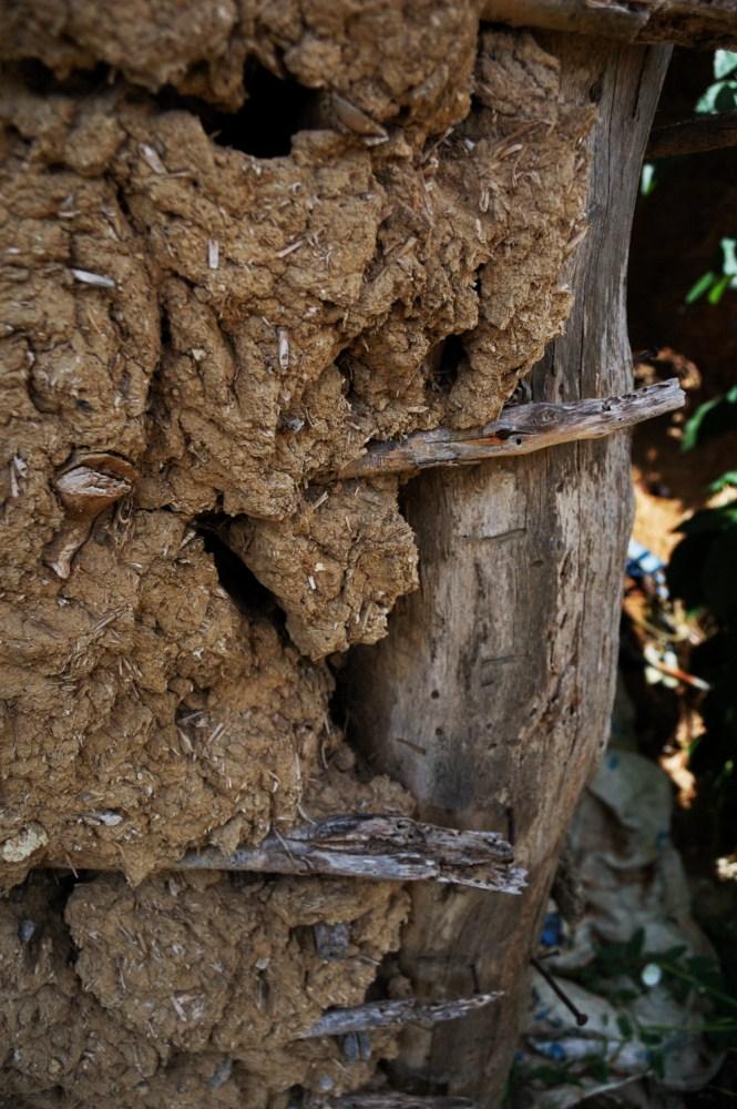 Case di terra cruda - dettaglio - Un esemplare di casa di terra cruda ritrovato nelle campagne di Paduli