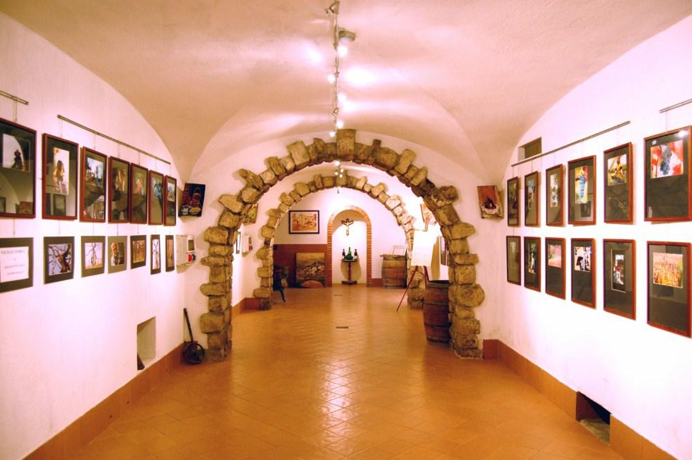 Piccolo museo adiacente l'ingresso alle cantine