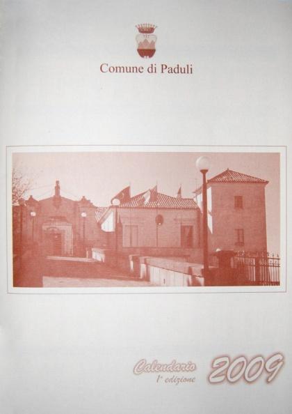 Calendario Istituzionale del Comune di Paduli - anno 2009
