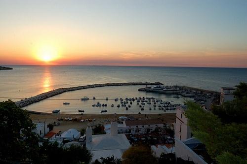 Gargano - Peschici - Il porto al tramonto